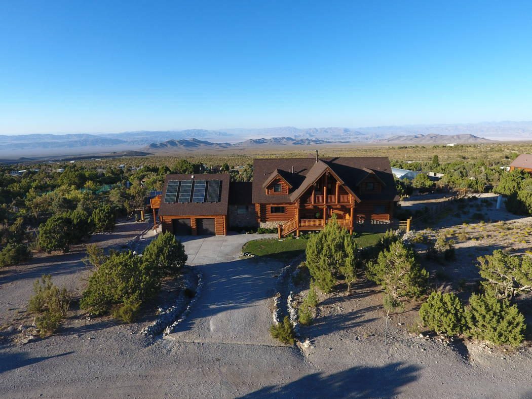 Richard and Tonia Birt built this off-grid home in Cold Creek Canyon 13 years ago. (Mt. Charleston Realty)
