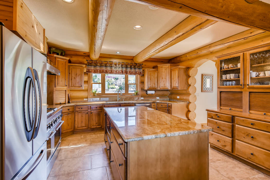 The kitchen has upgraded appliances. (Mt. Charleston Realty)