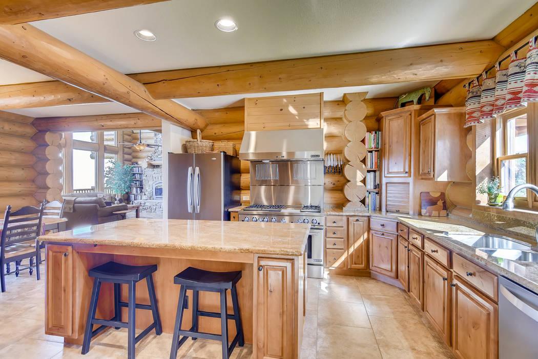 The kitchen. (Mt. Charleston Realty)