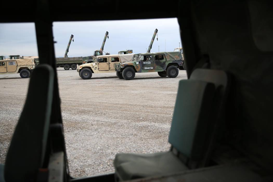 Military vehicles for auction at the Ritchie Bros. auction house in Las Vegas, Thursday, Dec. 6, 2018. Erik Verduzco Las Vegas Review-Journal @Erik_Verduzco