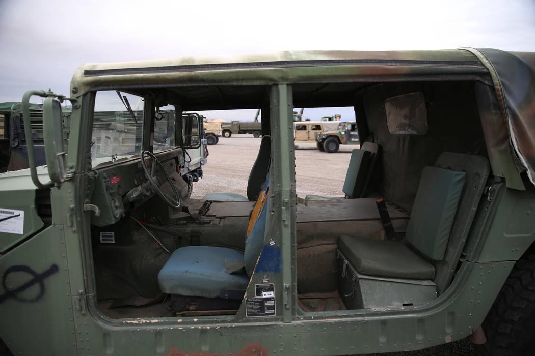 A military vehicle for auction at the Ritchie Bros. auction house in Las Vegas, Thursday, Dec. 6, 2018. Erik Verduzco Las Vegas Review-Journal @Erik_Verduzco
