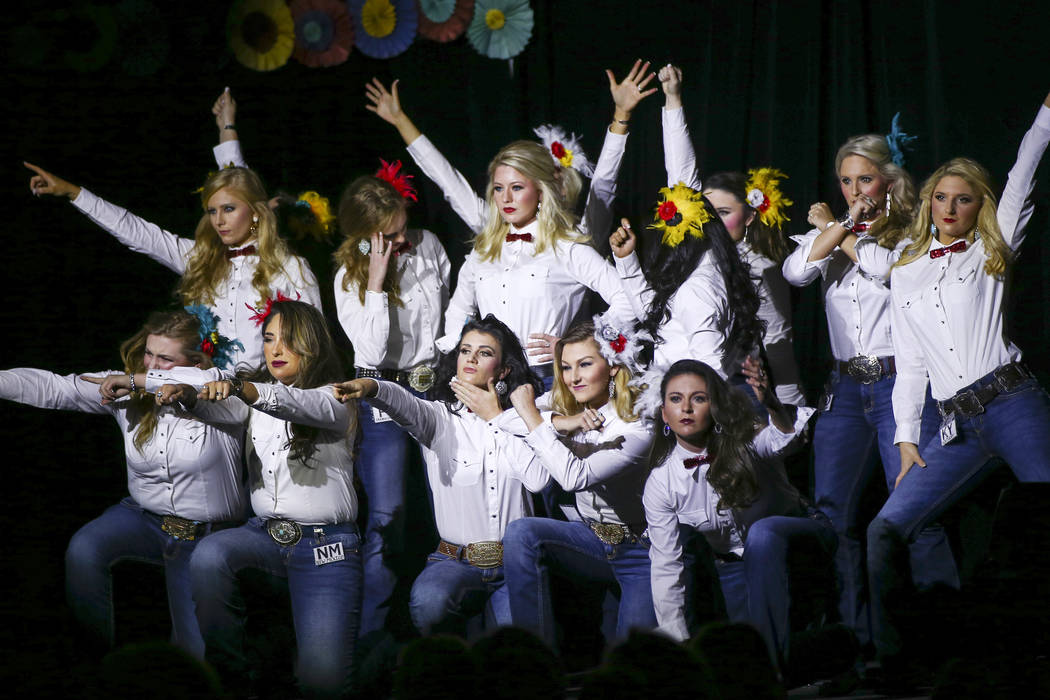 Contestants in the Miss Rodeo America Fashion Show perform at the opening of the event at the Tropicana Las Vegas in Las Vegas on Friday, Dec. 7, 2018. Chase Stevens Las Vegas Review-Journal @csst ...