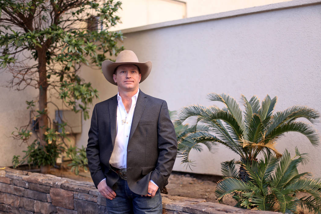Joey Sonnier outside Harrah's in Las Vegas, Tuesday, Dec. 4, 2018. At 39, he's made his first NFR in saddle bronc riding after battling years of drug addiction and coming clean in 2013. Rachel Ast ...