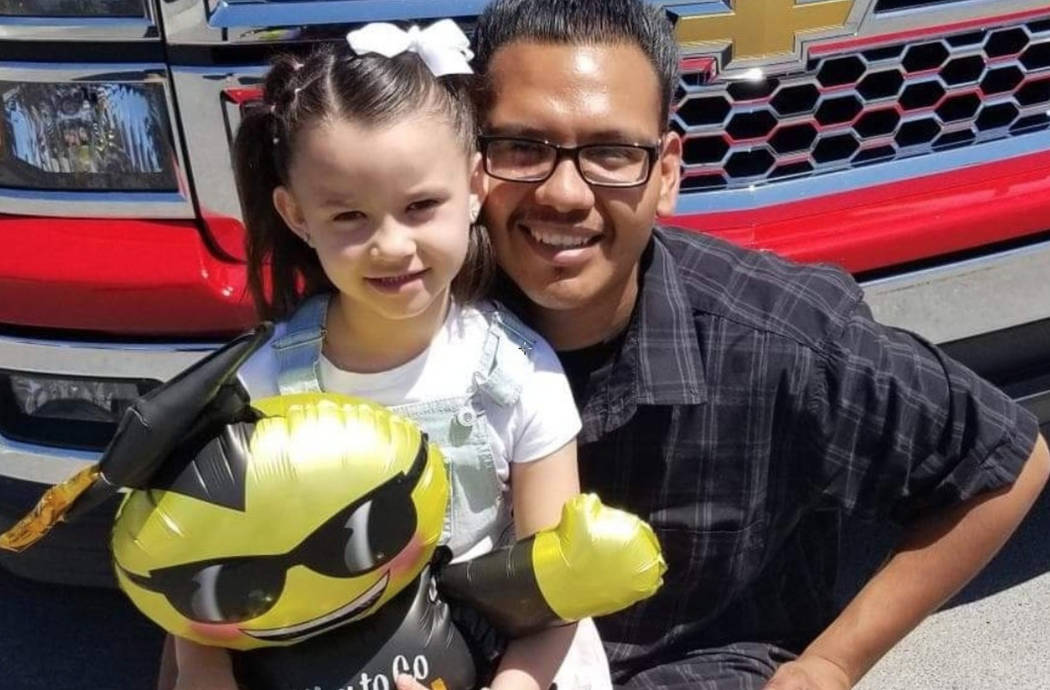 Eduardo Valtierrez, right, poses for a photo with his daughter, Kaylene. Valtierrez died in a crash early Friday, Dec. 7, 2018. (GoFundMe)