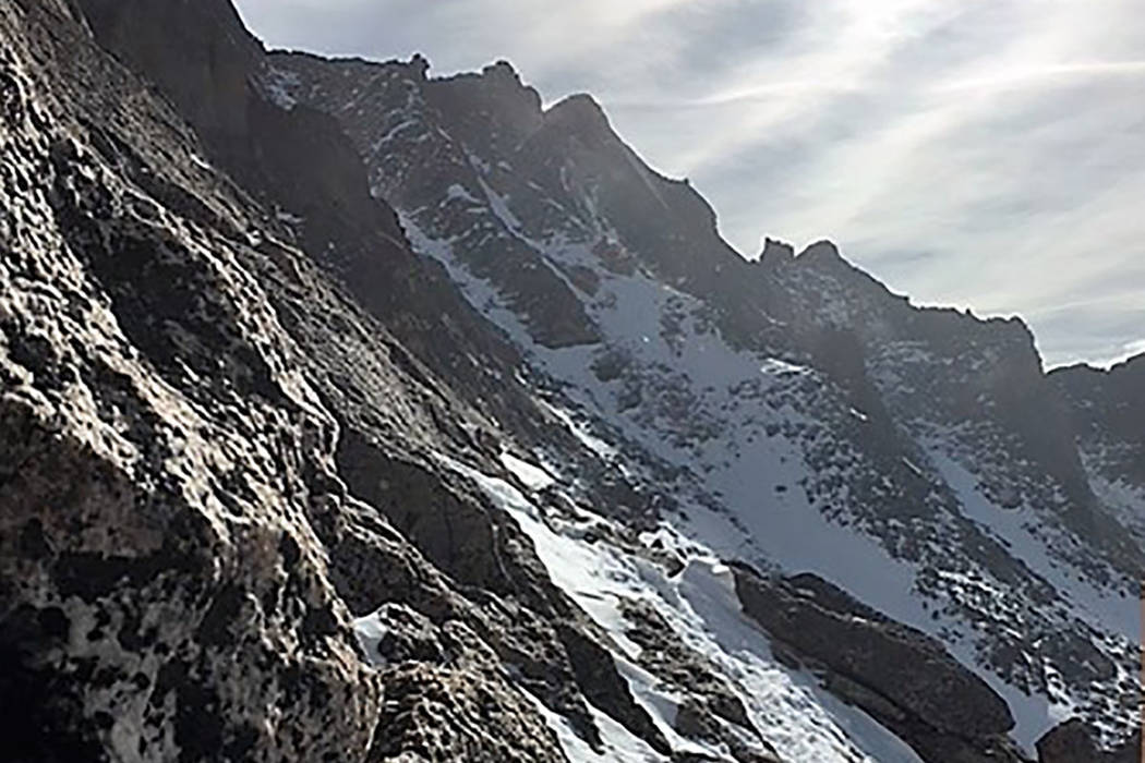 A ledge on the Keyhole Route in Rocky Mountain National Park, one of the areas search and rescue teams began looking for 20-year-old Micah Tice, on Tuesday, November 27, 2018. Tice, a cadet candid ...
