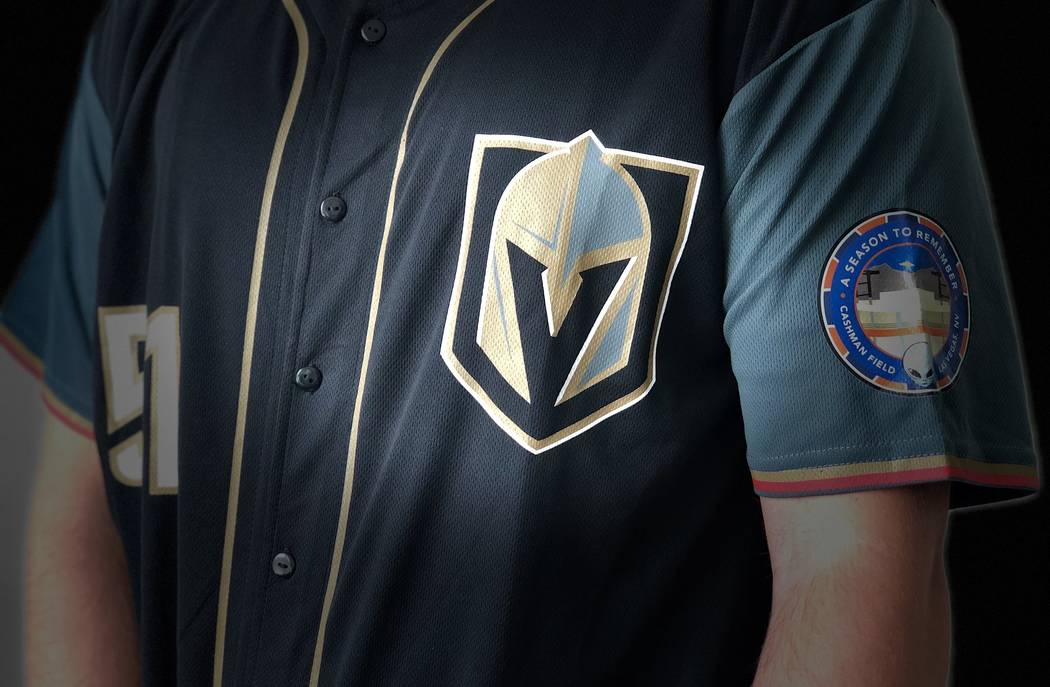 An image of a special Golden Knights-Las Vegas 51s jersey for a giveaway on Saturday, Sept. 1, 2018. (Las Vegas 51s)