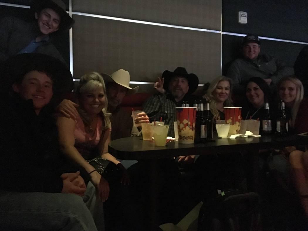 Melissa Williams of Phelan, Calif., second from left, Scott Corbin of Cedar City, Utah, and John Greco of Park City, Utah, third and fourth from left, respectively, had six booth crashers at Frida ...