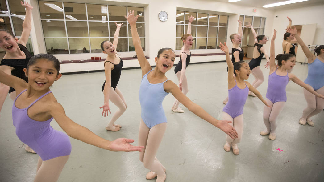 "Dancers during a rehearsal for the ""Nutcracker"" at the Nevada Ballet Theater in Las Vegas on Friday, Nov. 30, 2018. Richard Brian Las Vegas Review-Journal @vegasphotograph"