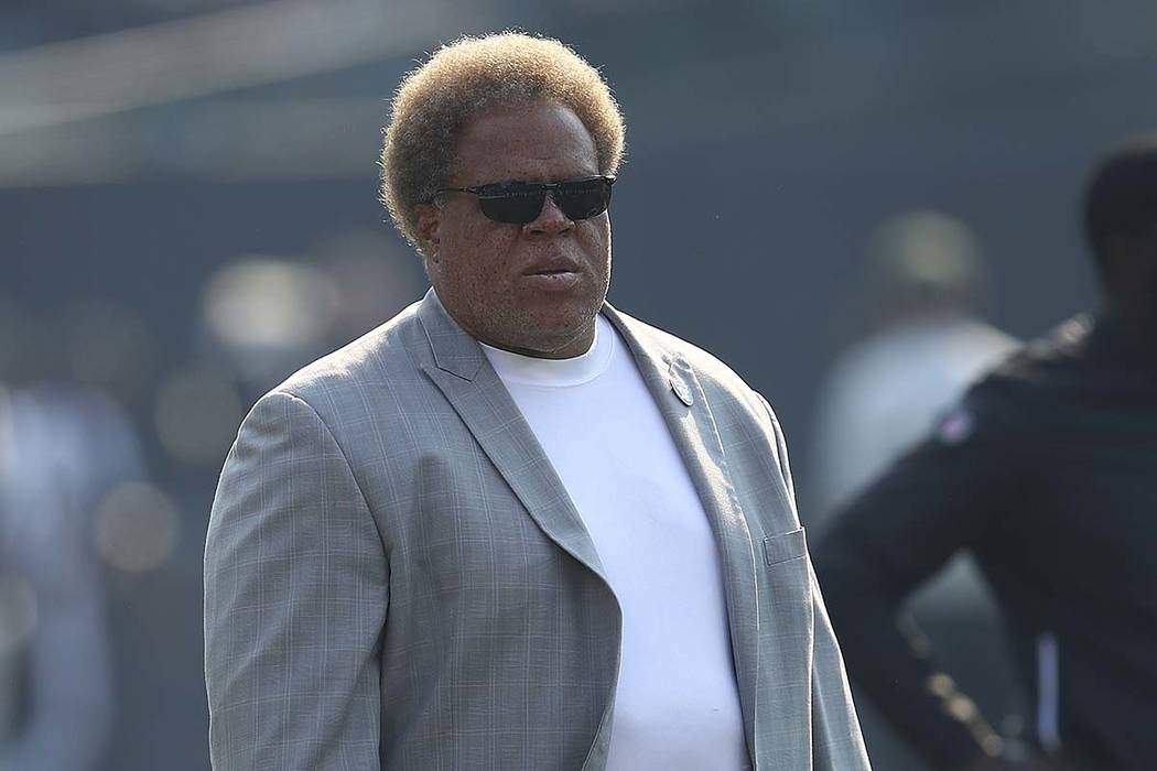 Oakland Raiders general manager Reggie McKenzie before an NFL football game between the Raiders and the Los Angeles Chargers in Oakland, Calif., Sunday, Nov. 11, 2018. (Ben Margot/AP)