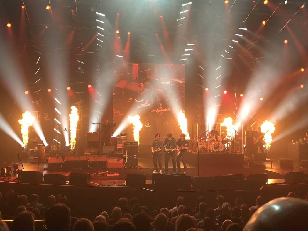 The stage set for John Fogerty at Encore Theater at Wynn Las Vegas on Wednesday, Jan. 10, 2018. (John Katsilometes/Las Vegas Review-Journal). @JohnnyKats