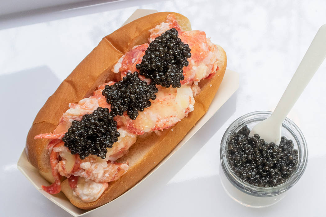 The Caviar Lobster Roll at Luke's Lobster. Photo from Luke's Lobster.