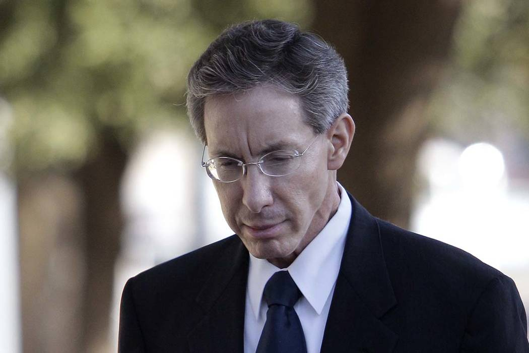 Polygamist sect leader Warren Jeffs arrives at the Tom Green County Courthouse in San Angelo, Texas, in July 28, 2011. (AP Photo/Tony Gutierrez)