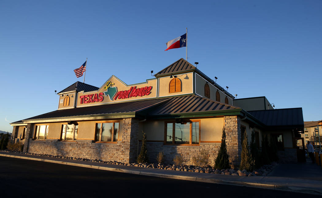 Texas Roadhouse at 1380 E. Craig Road in North Las Vegas Wednesday, Dec. 12, 2018. K.M. Cannon Las Vegas Review-Journal @KMCannonPhoto