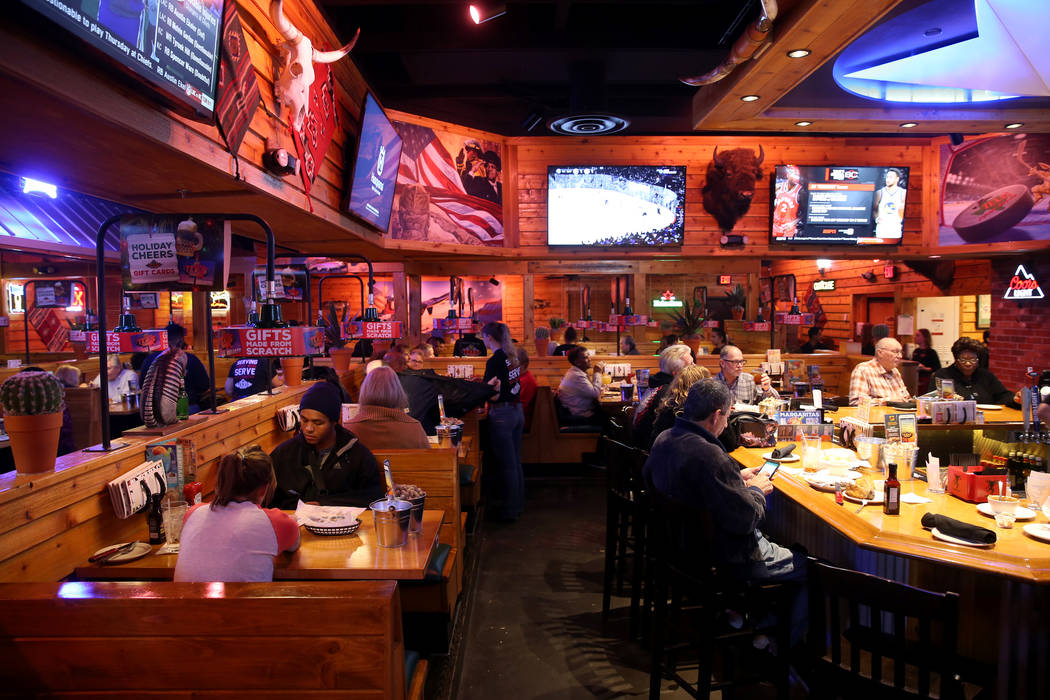 The bar area at Texas Roadhouse at 1380 E. Craig Road in North Las Vegas Wednesday, Dec. 12, 2018. K.M. Cannon Las Vegas Review-Journal @KMCannonPhoto