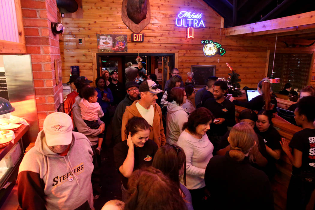 Guests wait for tables at Texas Roadhouse at 1380 E. Craig Road in North Las Vegas Wednesday, Dec. 12, 2018. K.M. Cannon Las Vegas Review-Journal @KMCannonPhoto