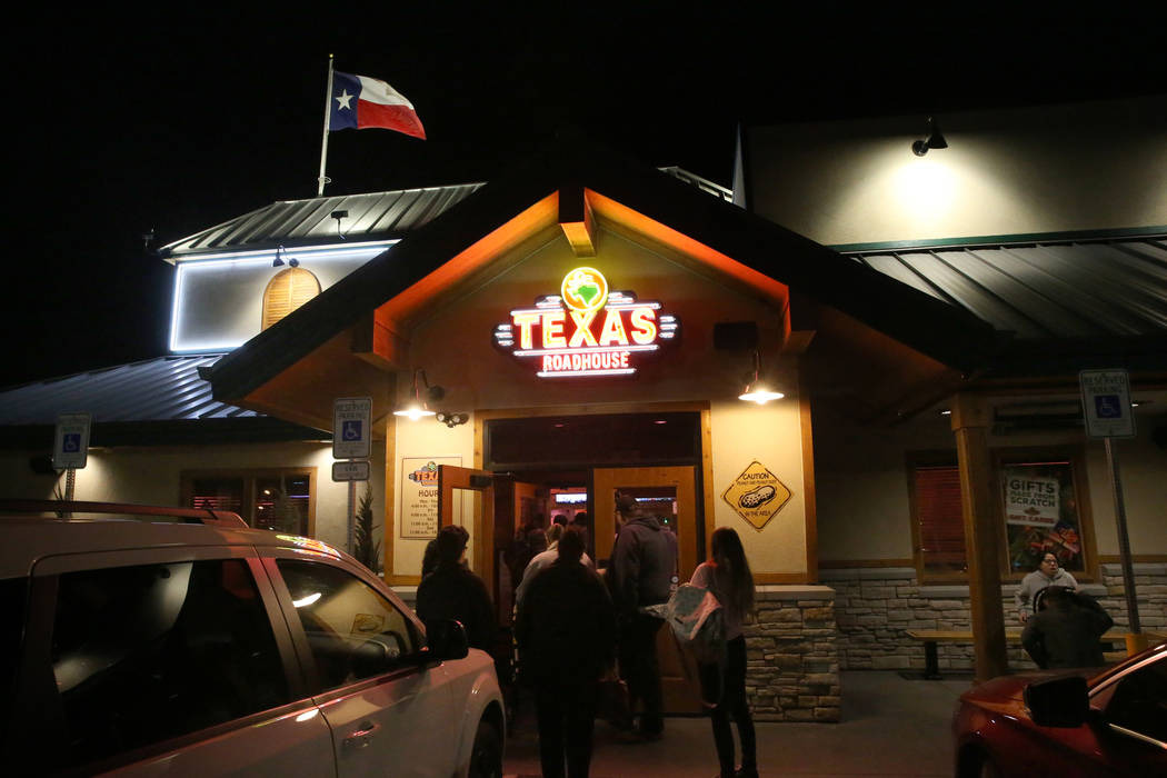 Guests arrive and wait for tables at Texas Roadhouse at 1380 E. Craig Road in North Las Vegas Wednesday, Dec. 12, 2018. K.M. Cannon Las Vegas Review-Journal @KMCannonPhoto