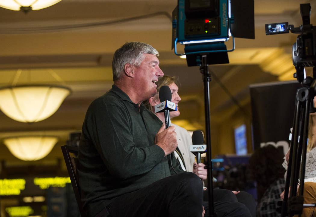 Las Vegas Aces coach Bill Laimbeer is interviewed during Major League Baseball's winter meetings at Mandalay Bay in Las Vegas on Monday, Dec. 10, 2018. Chase Stevens Las Vegas Review-Journal @csst ...