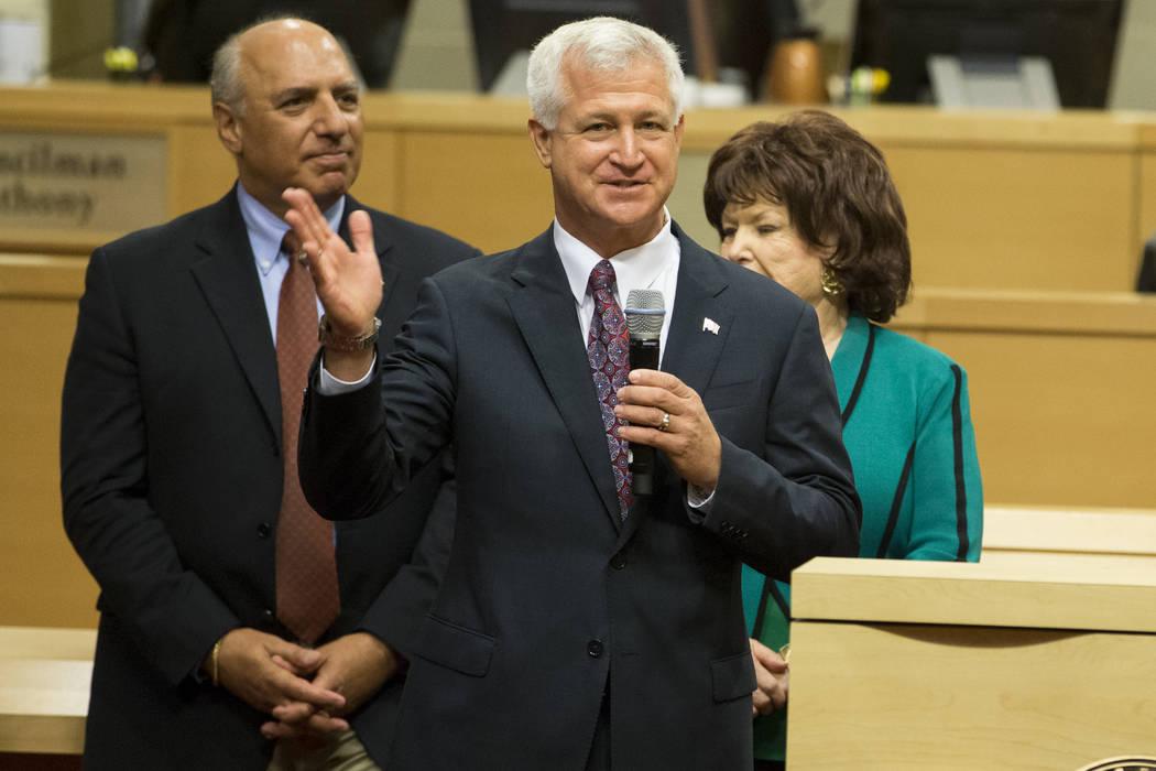 Ward 2 Councilman Steve Seroka after being sworn into office at Las Vegas City Hall in Las Vegas, on Wednesday, July 19, 2017. Erik Verduzco Las Vegas Review-Journal @Erik_Verduzco