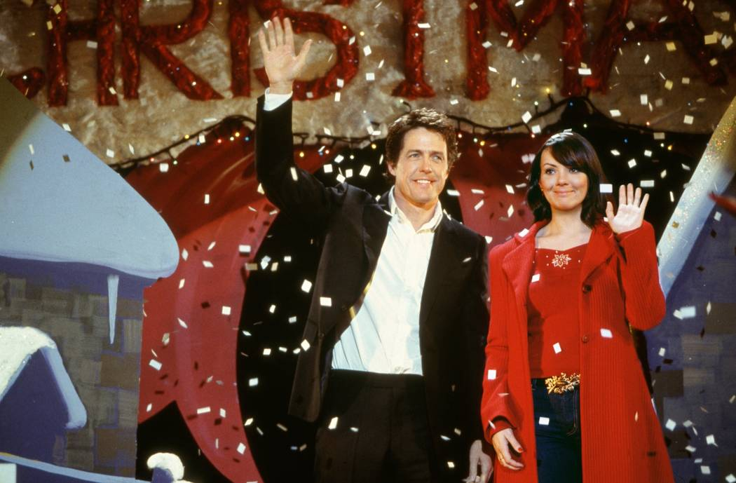 Hugh Grant and Martine McCutcheon in Richard Curtis' romantic comedy Love Actually. Photo Credit: Peter Mountain ©2003 Universal Studios. All Rights Reserved.