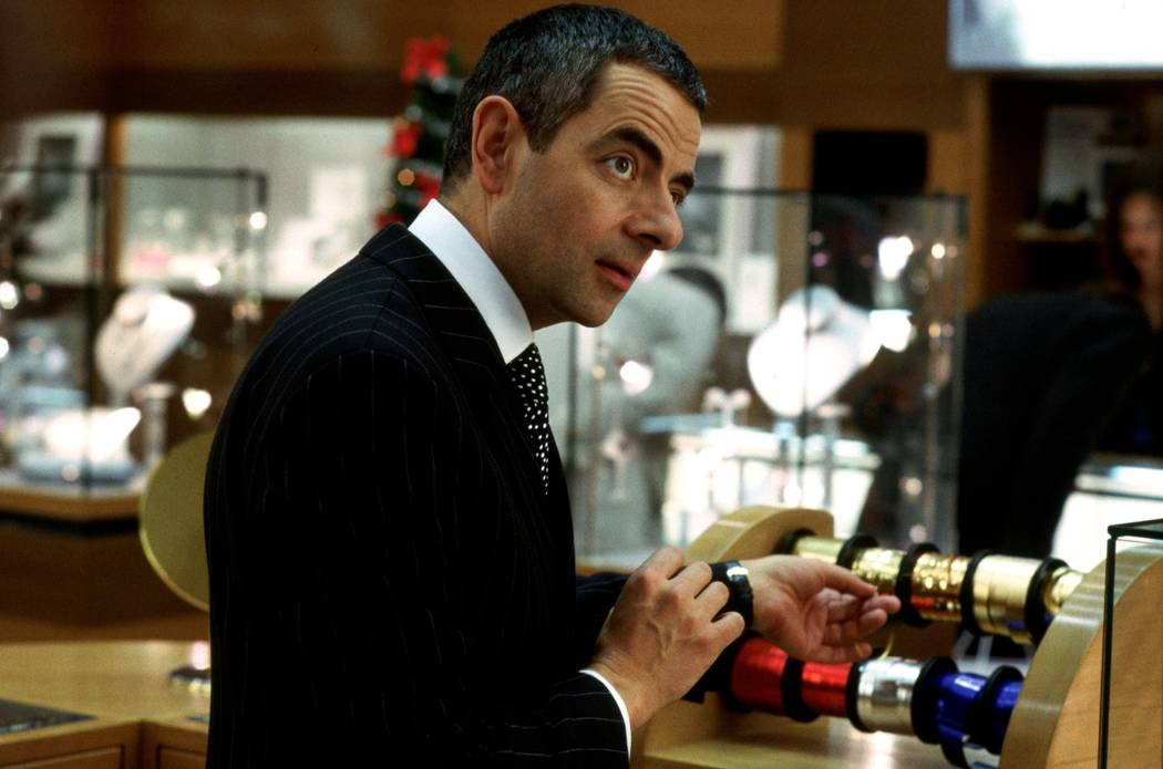 Rowan Atkinson in Richard Curtis' romantic comedy Love Actually. Photo Credit: Peter Mountain ©2003 Universal Studios. All Rights Reserved.