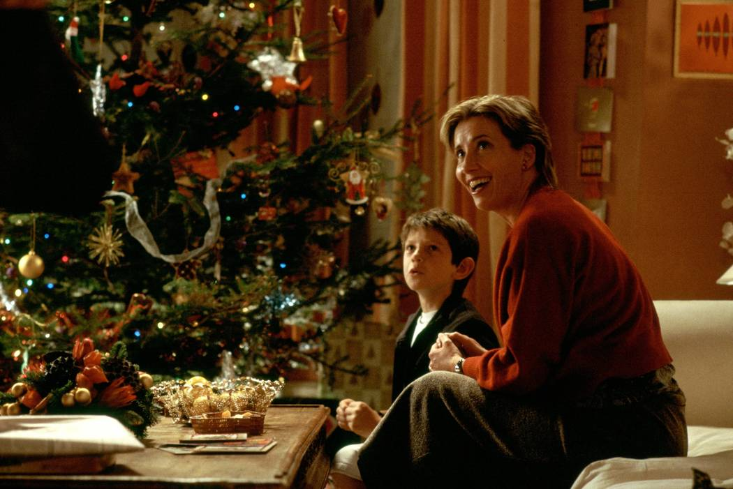 Karen (EMMA THOMPSON) and son Bernie (WILLIAM WADHAM) in Richard Curtis' romantic comedy Love Actually. Photo Credit: Peter Mountain ©2003 Universal Studios. All Rights Reserved.