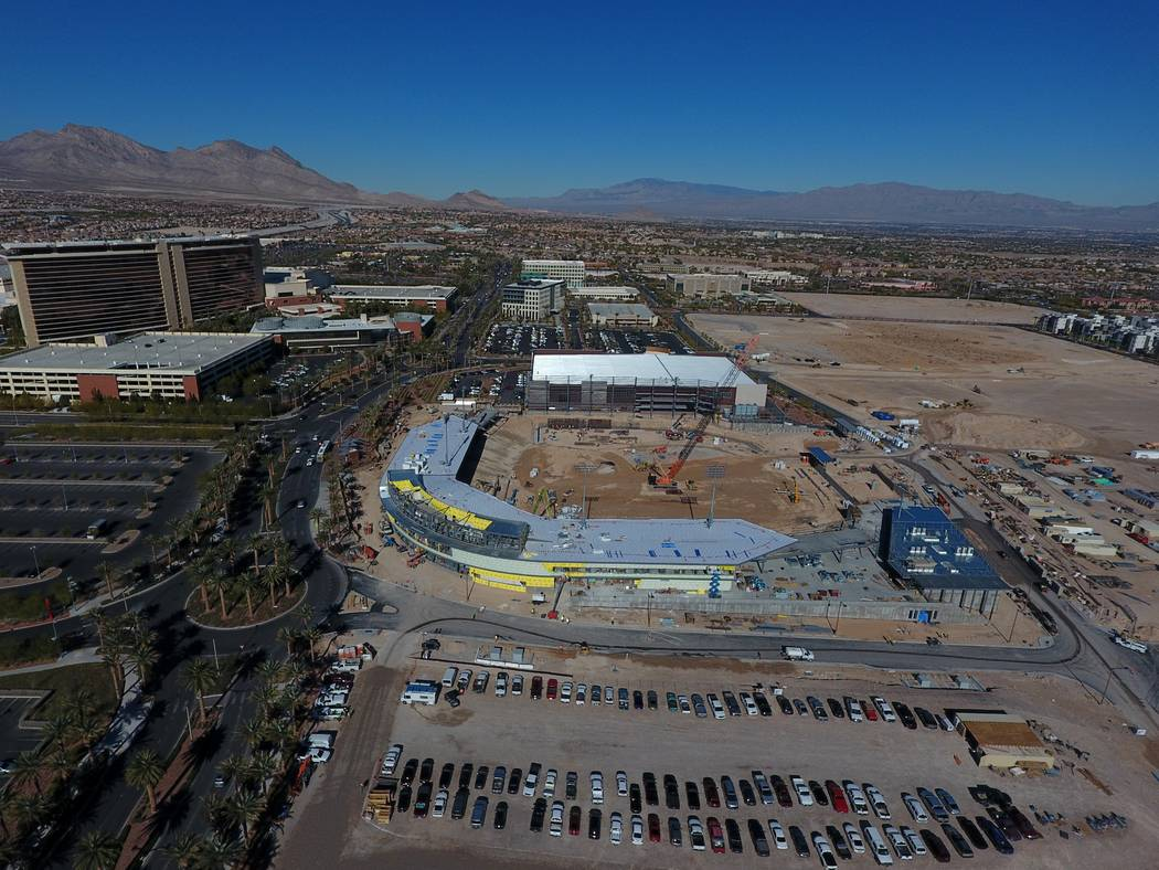 Aerial view of the Las Vegas Ballpark in Summerlin as seen on Monday, December 3, 2018. Michael Quine/Las Vegas Review-Journal @Vegas88s