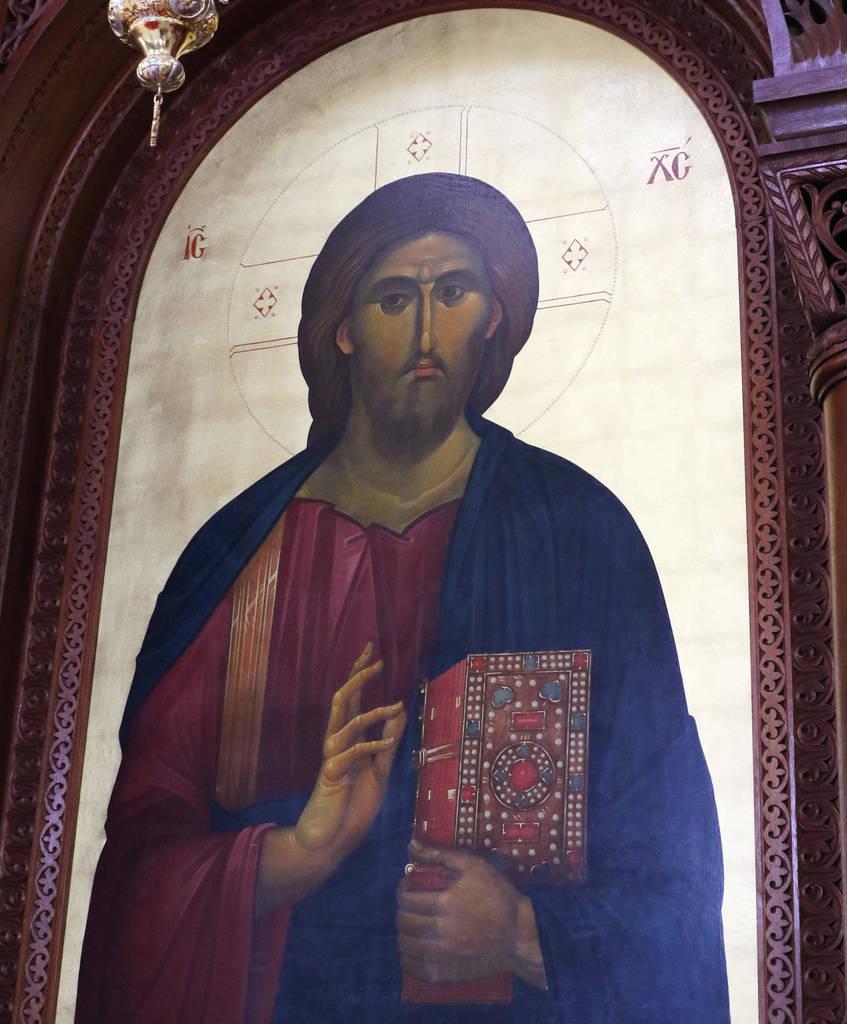 The icon of Jesus Christ is displayed at St. John the Baptist Greek Orthodox Church on Friday, Dec, 14, 2018, in Las Vegas. Bizuayehu Tesfaye Las Vegas Review-Journal @bizutesfaye