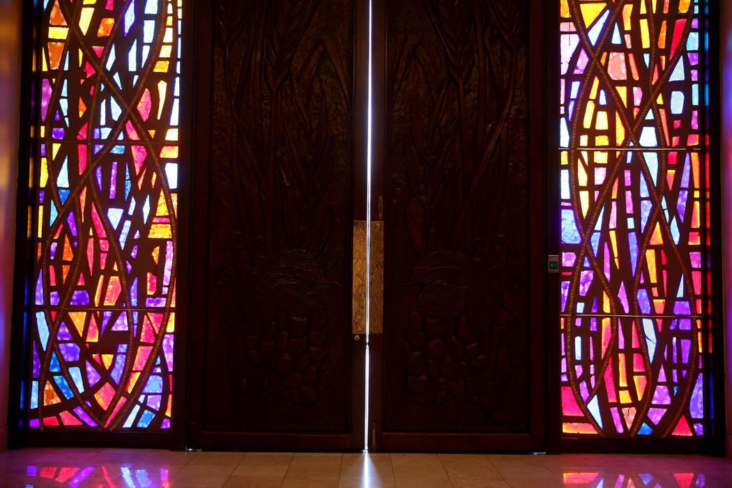 Doors at Temple Beth Sholom in Las Vegas Friday, Dec. 14, 2018. K.M. Cannon Las Vegas Review-Journal @KMCannonPhoto