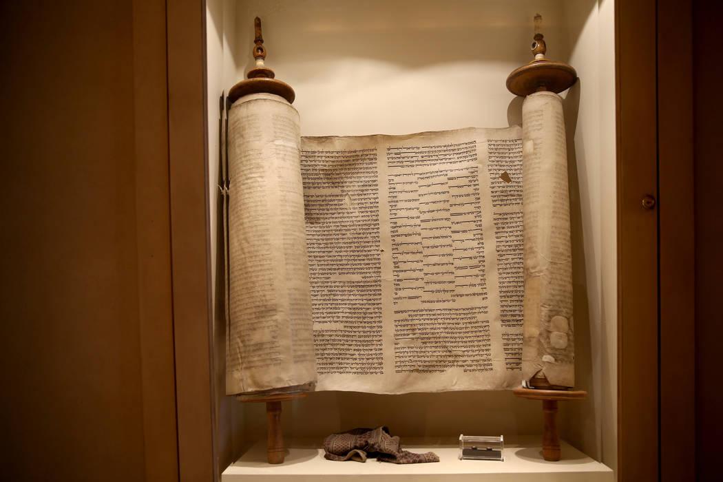 Holocaust Torah at Temple Beth Sholom in Las Vegas Friday, Dec. 14, 2018. K.M. Cannon Las Vegas Review-Journal @KMCannonPhoto