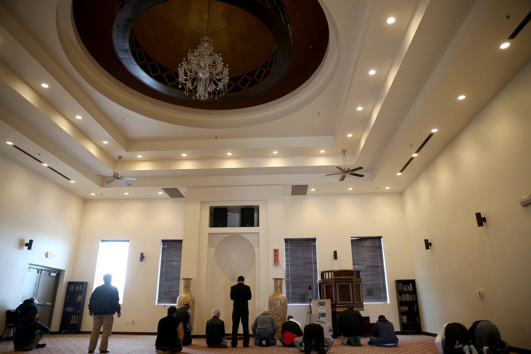 The prayer room at Masjid Ibrahim Islamic Center in Las Vegas Friday, Dec. 14, 2018. K.M. Cannon Las Vegas Review-Journal @KMCannonPhoto