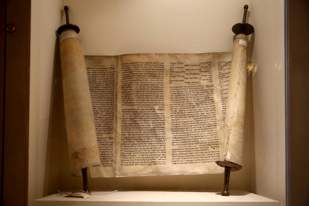 The Holocaust Haftorah at Temple Beth Sholom in Las Vegas Friday, Dec. 14, 2018. K.M. Cannon Las Vegas Review-Journal @KMCannonPhoto