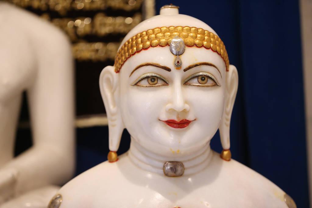 Statue of deity Adhinath at the Hindu Temple of Las Vegas in Las Vegas, Thursday, Dec. 13, 2018. Erik Verduzco Las Vegas Review-Journal @Erik_Verduzco