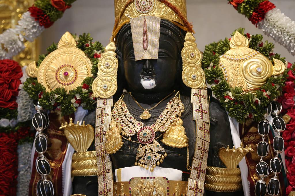 Statue of deity Balaji at the Hindu Temple of Las Vegas in Las Vegas, Thursday, Dec. 13, 2018. Erik Verduzco Las Vegas Review-Journal @Erik_Verduzco