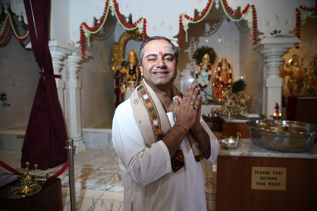 Pandit Brijesh Raval at the Hindu Temple of Las Vegas in Las Vegas, Thursday, Dec. 13, 2018. Erik Verduzco Las Vegas Review-Journal @Erik_Verduzco