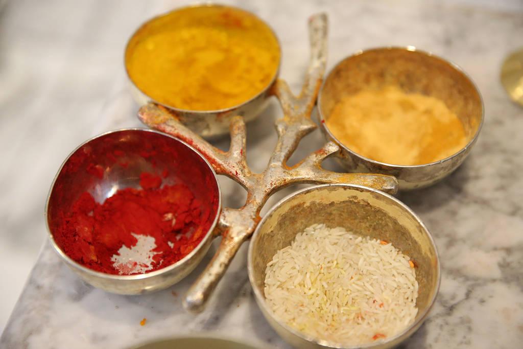 Food offerings for deities at the Hindu Temple of Las Vegas in Las Vegas, Thursday, Dec. 13, 2018. Erik Verduzco Las Vegas Review-Journal @Erik_Verduzco