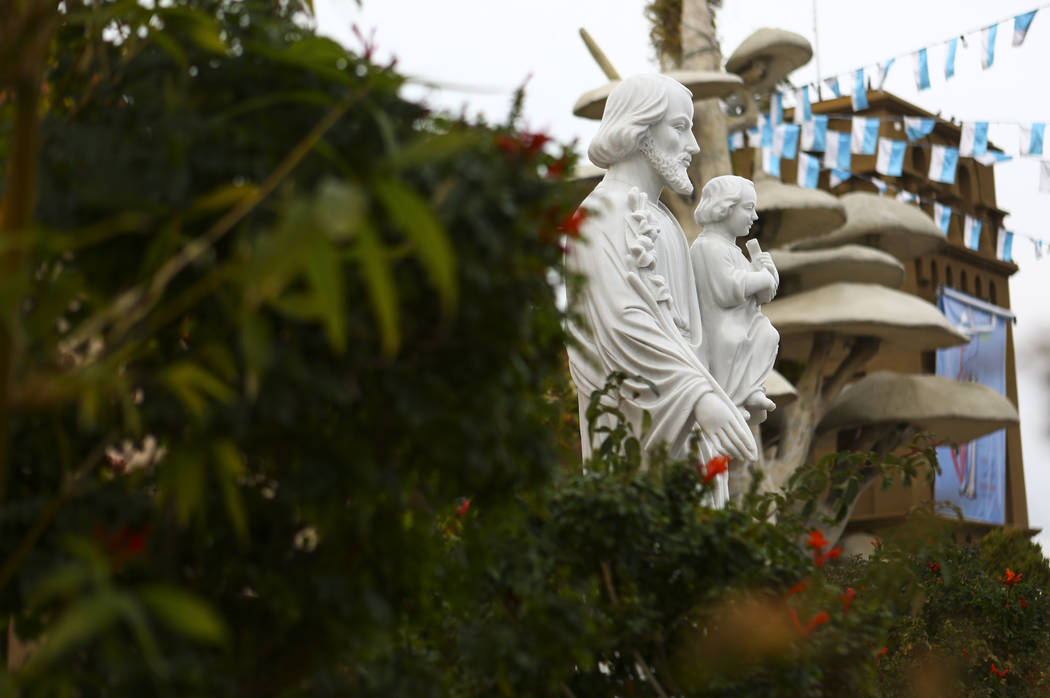 A statue of Kinh Cau Thanh Giuse, or St. Joseph with Jesus, at Shrine of Our Lady of La Vang, a Vietnamese Catholic church, in Las Vegas on Friday, Dec. 14, 2018. Chase Stevens Las Vegas Review-Jo ...