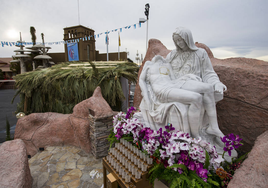 A replication of the Pieta statue of the Virgin Mary at Shrine of Our Lady of La Vang, a Vietnamese Catholic church, in Las Vegas on Friday, Dec. 14, 2018. Chase Stevens Las Vegas Review-Journal @ ...