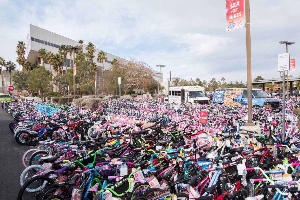 Last year, the 98.5 KLUC Chet Buchanan Show Toy Drive collected a total of 8,109 bikes, 32 trucks full of toys and $455,550 in cash and gift cards. Organizers were hoping to exceed that total this ...