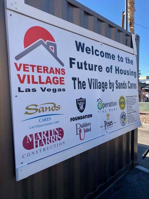 Veterans Village Las Vegas held a ground-breaking ceremony Dec. 11 at its second campus on 21st Street in downtown Las Vegas. (Veterans Village)