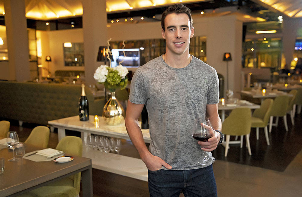 Vegas Golden Knights right-winger and Canadian Reilly Smith is one of several VGK players and staff members who chose to live in Summerlin. He is at Andiron, one of Downtown Summerlin's most pop ...