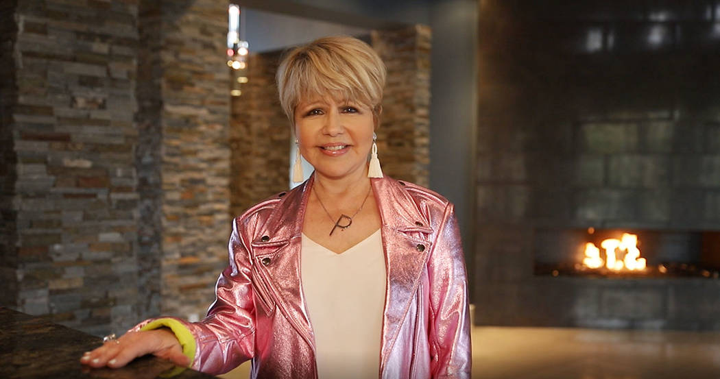 Pia Zadora in her Summerlin home that she has listed for $3.25M. (Tonya Harvey Real Estate Millions)
