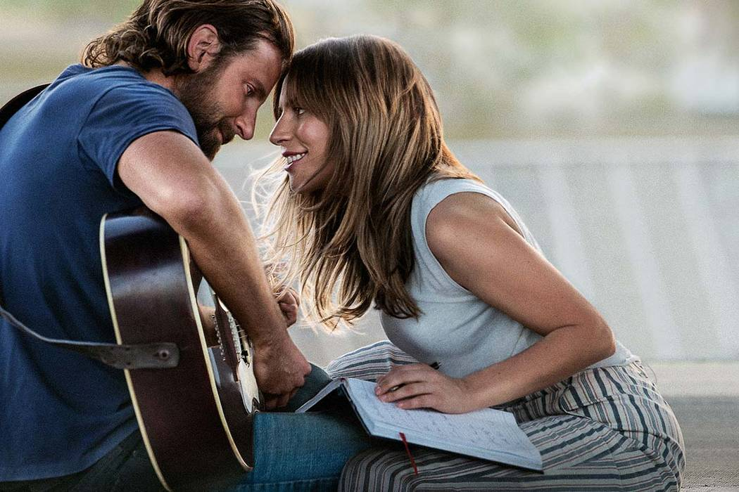 """Bradley Cooper with Lady Gaga in """"A Star Is Born"""". (Warner Bros. Pictures)"""