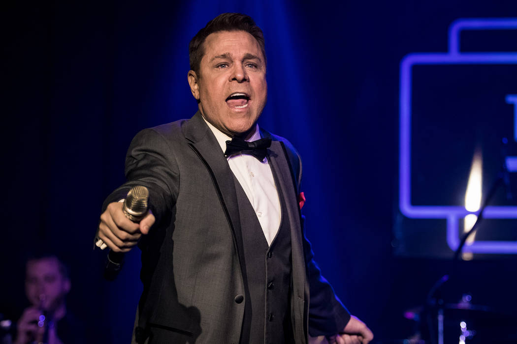 Las Vegas singer Mark OToole is shown performing at Mondays Dark at the Space, a twice-monthly charity event celebrating its fifth anniversary Monday night at the Joint at the Hard Rock Hotel. (Ry ...