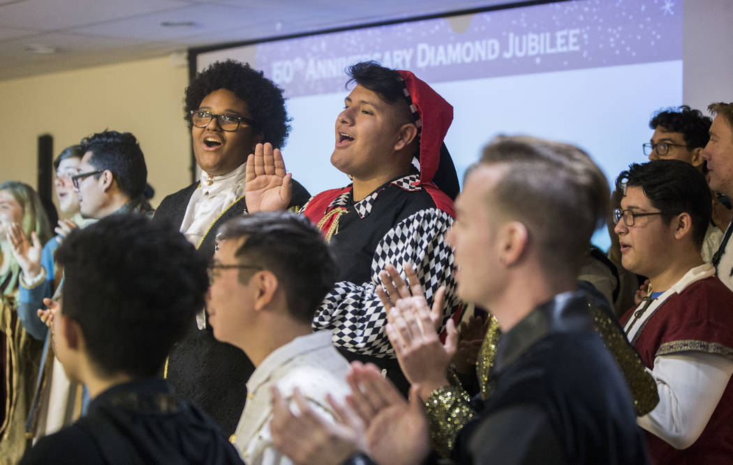 The Las Vegas High School Madrigals perform during a 60th anniversary luncheon for Sunrise Hospital and Medical Center on Wednesday, Dec. 12, 2018, in Las Vegas. Benjamin Hager Las Vegas Review-Jo ...