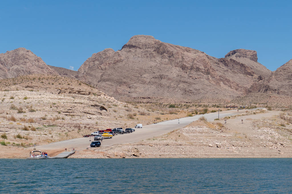 The South Cove boat launch ramp at the eastern end of Lake Mead in this photo from June 11, 2015. National Park Service