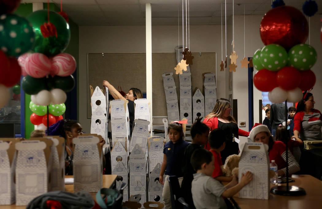 The Build-A-Bear-Workshop at Doris Reed Elementary School in Las Vegas, Thursday, Dec. 13, 2018. Rachel Aston Las Vegas Review-Journal @rookie__rae