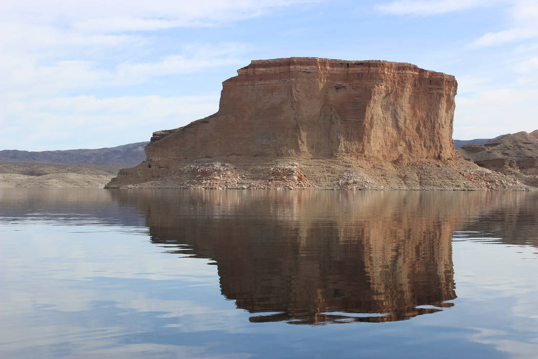 The Temple Bar formation in Lake Mead National Recreation Area. (Deborah Wall/Las Vegas Review-Journal)