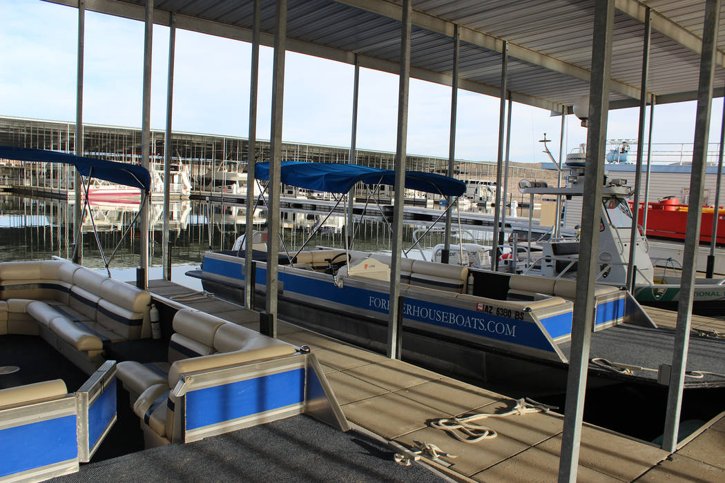 The Temple Bar Marina rents all sorts of watercraft, including kayaks, fishing boats and deck boats. (Deborah Wall/Las Vegas Review-Journal)