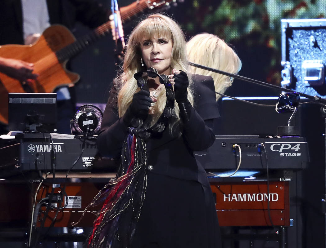 Stevie Nicks of the band Fleetwood Mac performs at the 2018 iHeartRadio Music Festival Day 1 held at T-Mobile Arena on Friday, Sept. 21, 2018, in Las Vegas. Nicks will join Def Leppard, Janet Jack ...