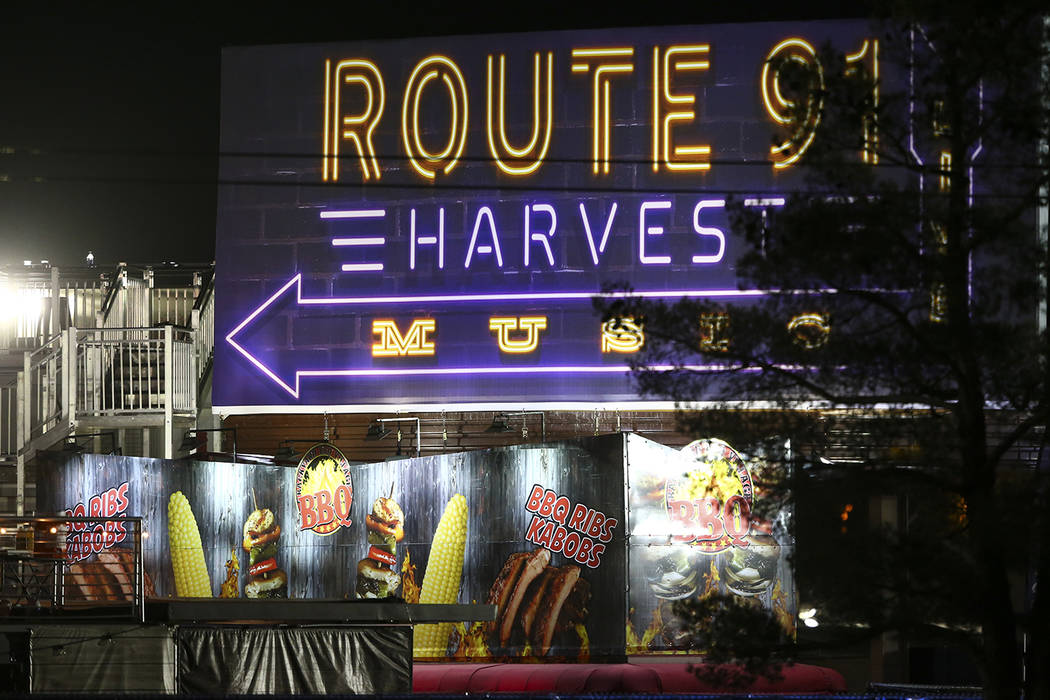 Promoters are planning to bring the Route 91 Harvest festival back to the Las Vegas Strip in 2019. (Chase Stevens/Las Vegas Review-Journal @csstevensphoto